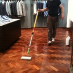 Varnishing Herringbone Parquet Floors