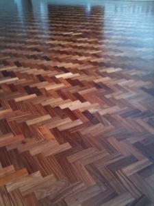 Parquet Floor Sanding Herringbone Pattern