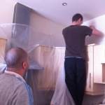 Floor Sanding London - Dust-sheeting for Curtains